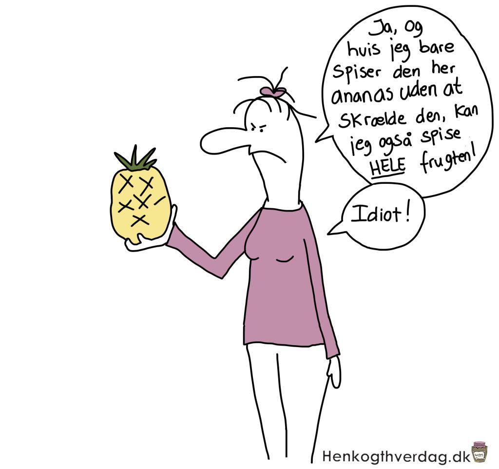 Lorte måde at spise en ananas på