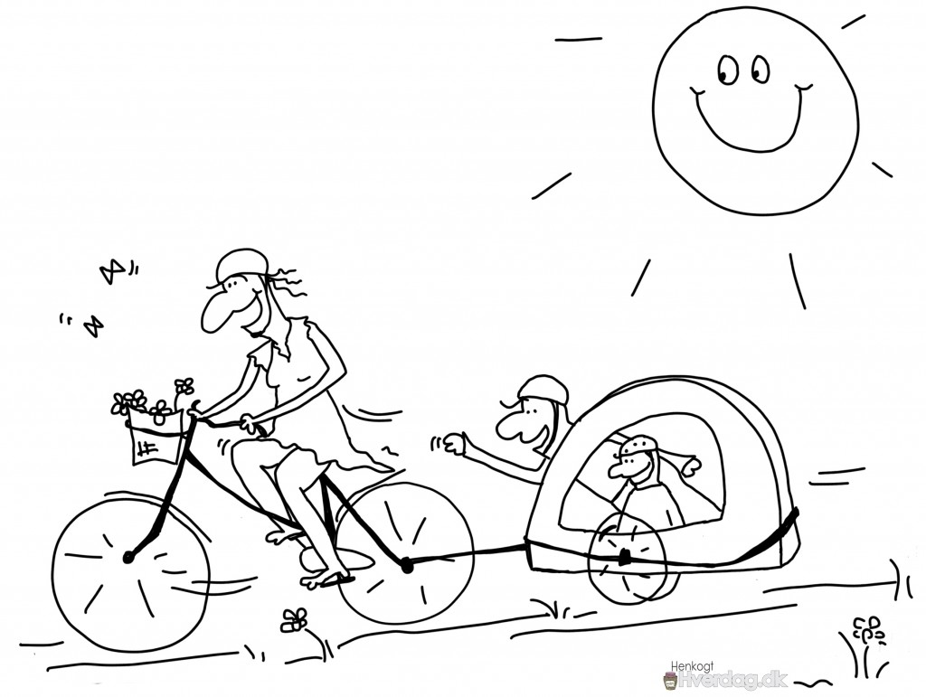 Fri med cykeltrailer